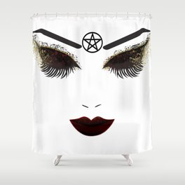 Pentacle Beauty Face Shower Curtain