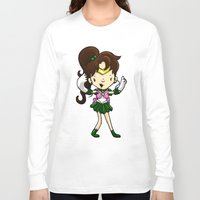 sailor jupiter Long Sleeve T-shirts featuring Sailor Scout Sailor Jupiter by Space Bat designs