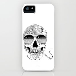 GONZO SKULL (INK ONLY) iPhone Case