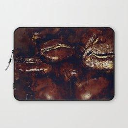 big coffee beans splatter watercolor Laptop Sleeve