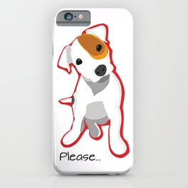 """Please"" Jack Russell Terrier Puppy iPhone Case"