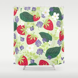 Strawberrie patten Shower Curtain