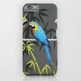 Kakadu - Macbambooaw Bambus Rope Jungle iPhone Case
