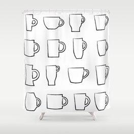Mug Assortment Shower Curtain