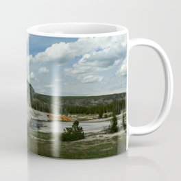 Firehole River And Geyser Area Coffee Mug