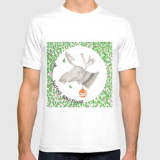 CHRISTMAS1 MEDIUM Mens Fitted Tee White