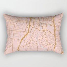 San Antonio map, Texas Rectangular Pillow