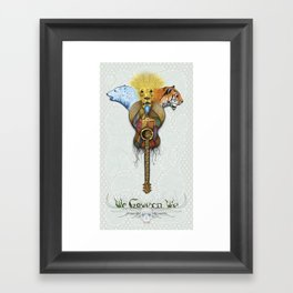 WE GOVERN WE // lionsandtigersandbears Framed Art Print