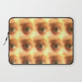 Creepy cartoon eyes pattern Laptop Sleeve