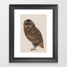 Heaton Owl Framed Art Print