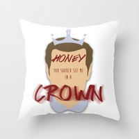 moriarty Throw Pillows featuring Moriarty by Cécile Pellerin