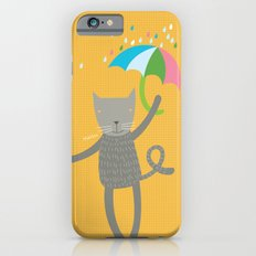 a cat is always prepared for the rain iPhone 6s Slim Case
