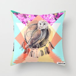 DON'T BE AFRAID TO GET YOUR FEATHERS WET Throw Pillow