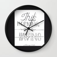 johnny cash Wall Clocks featuring Johnny Cash by Kami Sparks