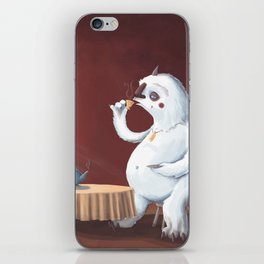 the yeti came for tea iPhone Skin