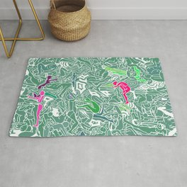 Body Map - Sea Green Rug