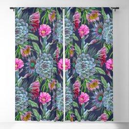 Exotic flower garden II Blackout Curtain
