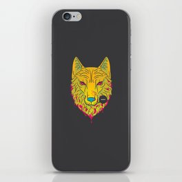The Unbridled Anger of a Decapitated Direwolf iPhone Skin