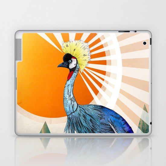 Crowned Crane Laptop & iPad Skin