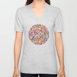 Dessert Rainbow Sprinkles Pattern Unisex V-Neck