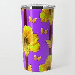 FOR THE LOVE OF BUTTERFLIES PURPLE ART Travel Mug
