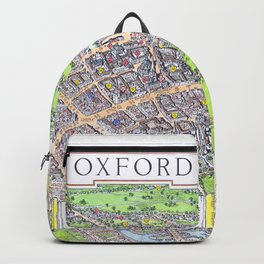 OXFORD university map ENGLAND dorm decor Backpack