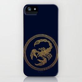 Golden Zodiac Series - Scorpio iPhone Case