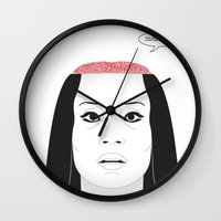 carnage Wall Clocks featuring THE FLOWER OF CARNAGE - KILL BILL - MEIKO KAJI by Mirco Greselin
