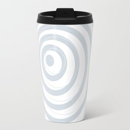 orbits - circle pattern in ice gray and white Travel Mug