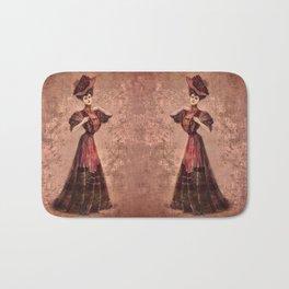 Woman in red Edwardian Era in Fashion Bath Mat