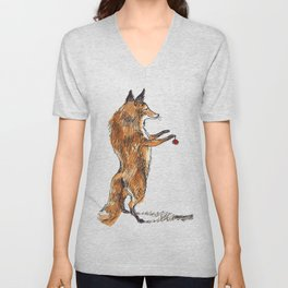 Christmas Fox Unisex V-Neck