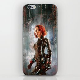 Black Widow iPhone Skin