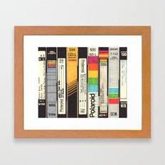 VHS Detail Framed Art Print