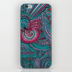 Drawing Meditation - Turquoise iPhone & iPod Skin