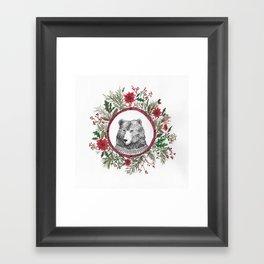 oso navidad Framed Art Print