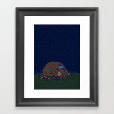 Starry Night Novembear Framed Art Print