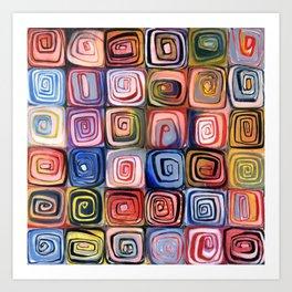 Spiral Grid Art Print