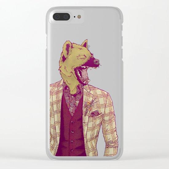 Elwood the Hyena Clear iPhone Case