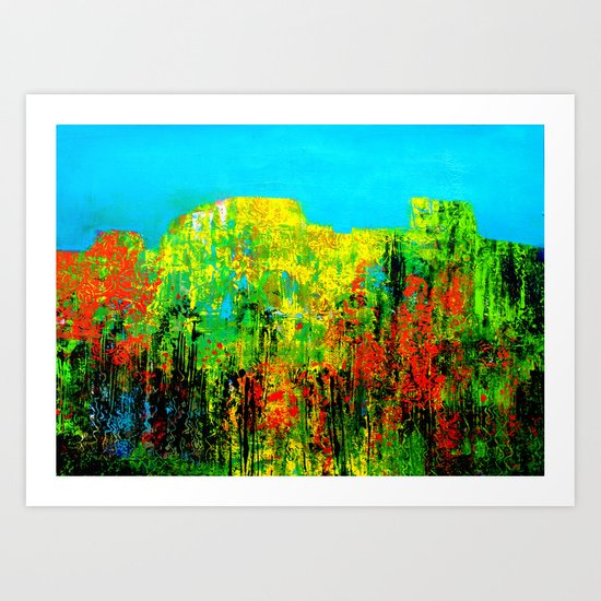 the mountains' flora Art Print