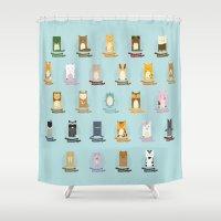 alphabet Shower Curtains featuring Alphabet by abby putinski