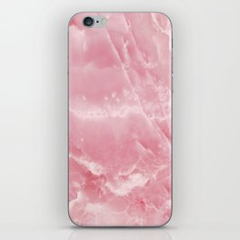 Pink Onyx Marble iPhone Skin