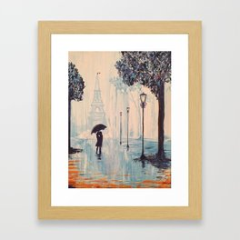 Last Night In Paris  Framed Art Print