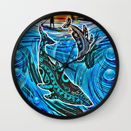 Whales Tale Wall Clock