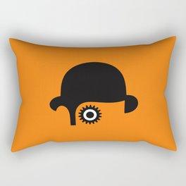 A Clockwork silhouette Rectangular Pillow