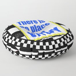 "INDY Oval ""Sticker"" Floor Pillow"