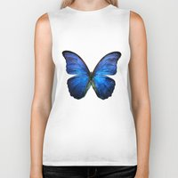 butterfly Biker Tanks featuring butterfly  by mark ashkenazi