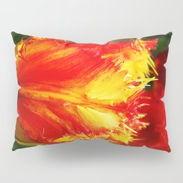 Curly Tulip Red And Yellow Pillow Sham