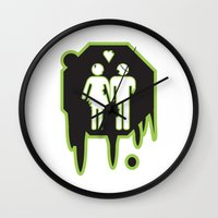 zombies Wall Clocks featuring Zombies by JJ Fry