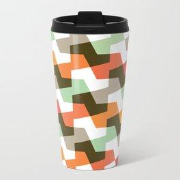Geometric Pattern #56 (mint orange red) Travel Mug