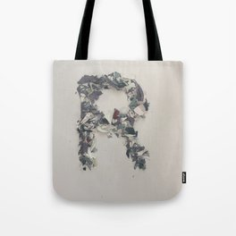 Letter R in Paint Tote Bag
